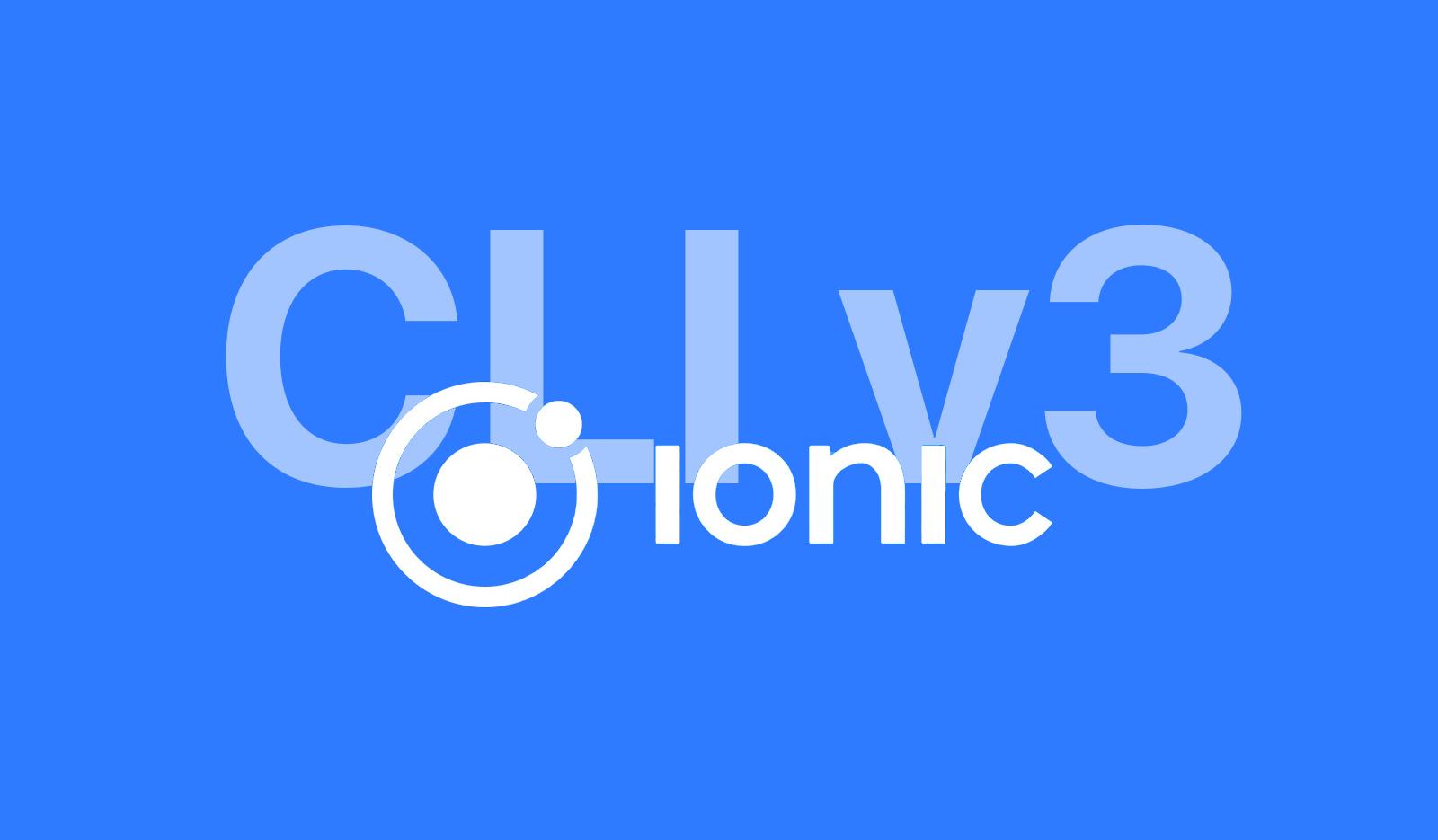 ionic CLI v3